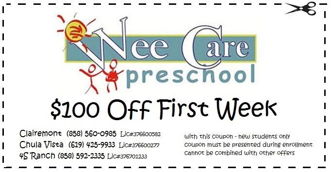 Online Specials Wee Care Preschool