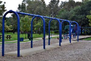 swings on a preschool playground